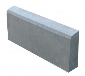 Поребрик 50*20*6,5 см, серый