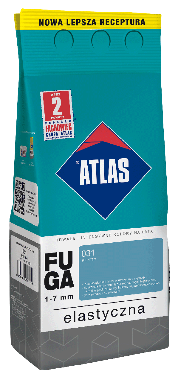 Затирка Elastyczna (1-7 мм) ATLAS 036 темно-сіра 2 кг   /10шт/