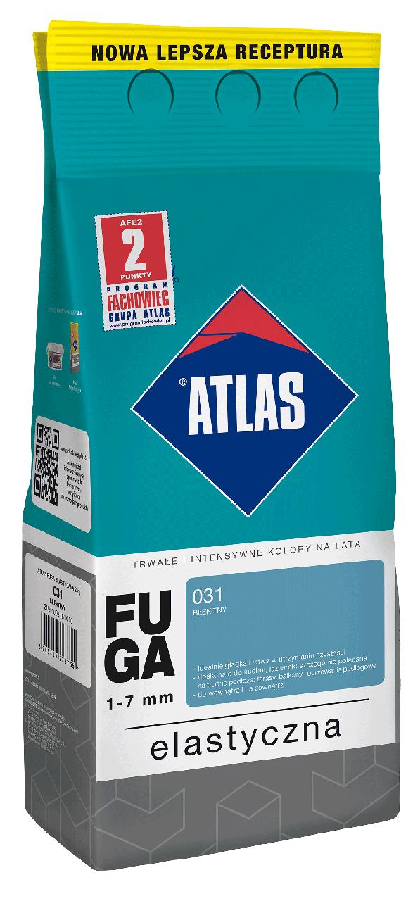 Затирка Elastyczna (1-7 мм) ATLAS 123 яскраво-коричнева 2 кг   /10шт/