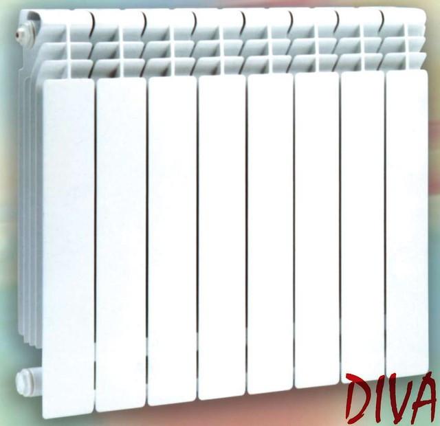 Биметаллические радиаторы 96 мм Diva (секция)