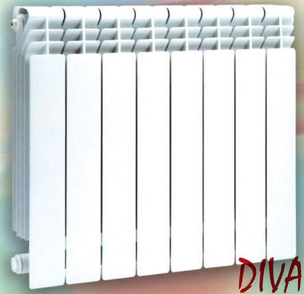 Биметаллические радиаторы 96 мм Diva (секция), фото 2