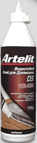 Клей для дерева водостійкий Artelit WB-330 TYTAN 500 мл   /12шт/, фото 2