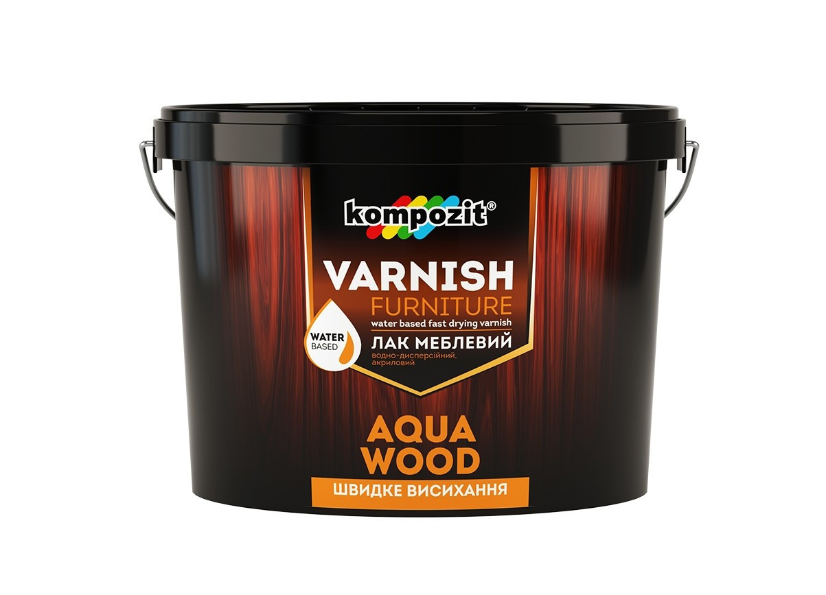 Лак меблевий шовковисто-матовий Aqua Wood КОМПОЗИТ 2,5л