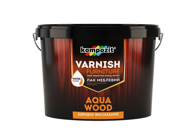 Лак меблевий шовковисто-матовий Aqua Wood КОМПОЗИТ 2,5л, фото 2