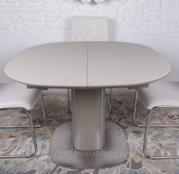 Стол обеденный BOSTON (110/150*110*76cmH) капучино/мокко, Nicolas