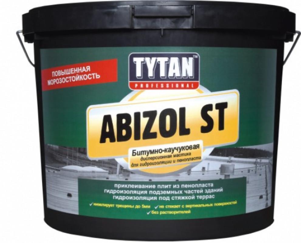 Мастика бітумно-каучукова Abizol ST коричнева TYTAN 18 кг