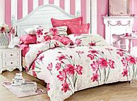 Комплект постельного белья евро Розовые цветы