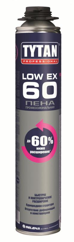 Піна монтажна професійна LOW EX 60 TYTAN 750 мл   /12шт/