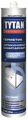 Силікон санітарний TYTAN прозорий 310 мл   /12шт/, фото 2