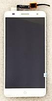 Модуль (сенсор+дисплей) для ZTE Blade V7 білий, фото 3