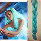 🍃 Канекалон однотонный нежно мятный, коса 🍃, фото 2