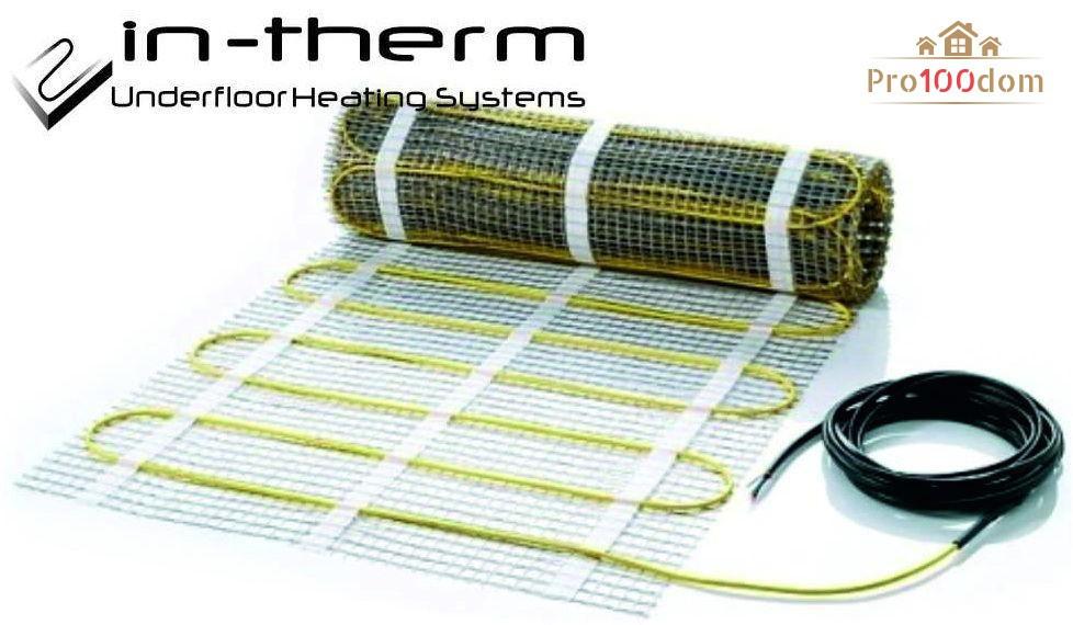 Нагревательный мат In-Therm 0,8 кв.м 170 Вт под плитку