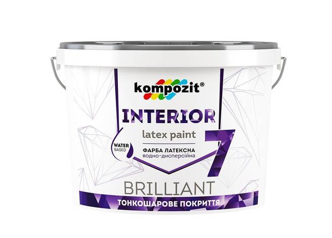 Фарба інтерєрна латексна Interoir 7 КОМПОЗИТ 14 кг, фото 2