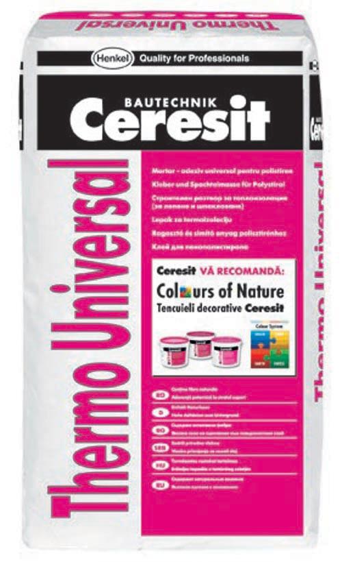 Клей для пенопласта Ceresit Thermo Universal