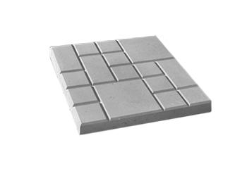 """Тротуарная плитка Квадрат """"25 x 25"""" серый, вибролитая"""