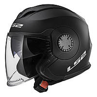 Шлем LS2 OF570 VERSO  Черный матовый  Matte black полулицевик  Оригинал, фото 1
