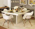 Кресло Тауэр Вуд, белый пластик, бук (Прайз), Eames, фото 5