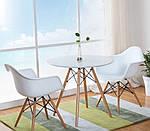 Кресло Тауэр Вуд, белый пластик, бук (Прайз), Eames, фото 6