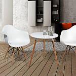 Кресло Тауэр Вуд, белый пластик, бук (Прайз), Eames, фото 7