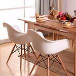 Кресло Тауэр Вуд, белый пластик, бук (Прайз), Eames, фото 8