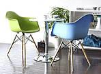 Кресло Тауэр Вуд, зеленый пластик, бук (Прайз), Eames, фото 3