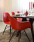 Кресло Тауэр Вуд, оранжевый пластик, бук (Прайз), Eames, фото 5