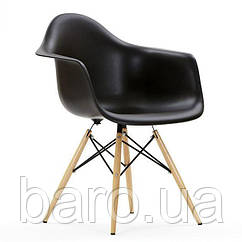 Кресло Тауэр Вуд, черный пластик, бук (Прайз), Eames