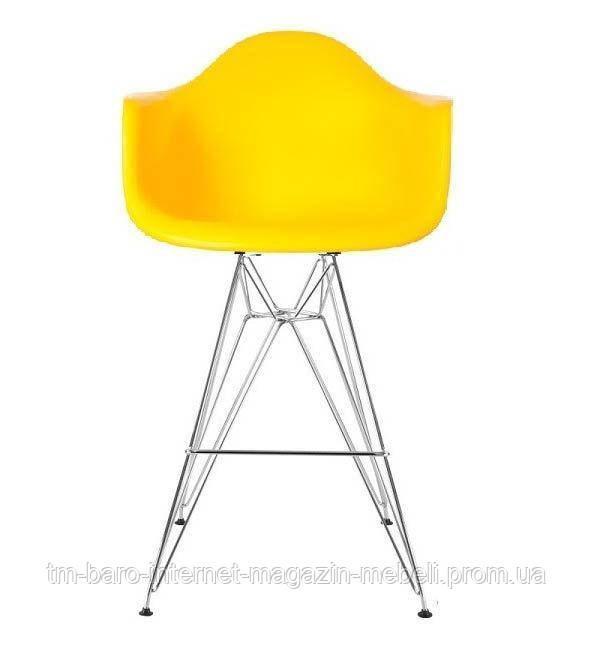 Кресло барное Тауэр Eames желтый, хром