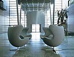 Кресло Эгг (Egg), белая экокожа, металл, фото 7
