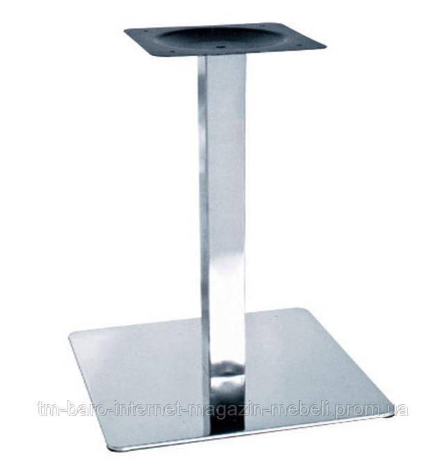 Опора для стола Нил, нержавеющая сталь, h72, 50х50 см