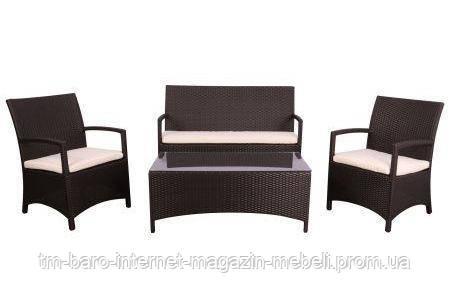Комплект мебели Bavaro из ротанга Elit (SC-A7428) Brown, коричневый/салатовый, (Бесплатная доставка)