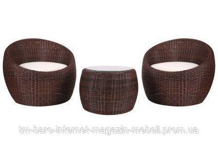Комплект мебели Domingo из ротанга Elit (SC-FT021) Brown, коричневый/молочный (Бесплатная доставка)