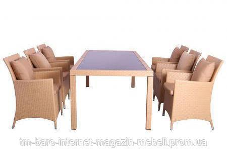 Комплект мебели Samana-6 из ротанга Elit (SC-8849) Sand, песочный, (Бесплатная доставка)