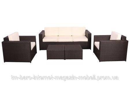 Комплект мебели Santo из ротанга Elit (SC-B9508) коричневый/молочный, (Бесплатная доставка)