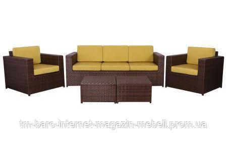 Комплект мебели Santo из ротанга Elit (SC-B9508) коричневый/салатовый, (Бесплатная доставка)