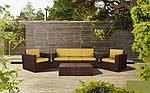 Комплект мебели Santo из ротанга Elit (SC-B9508) коричневый/салатовый, (Бесплатная доставка), фото 10