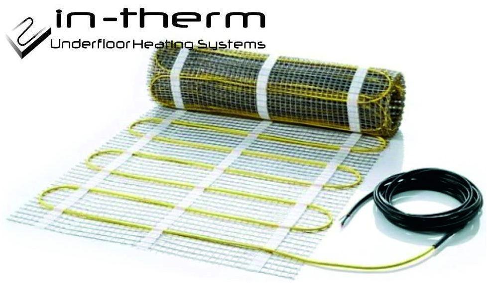 Нагревательный мат In-Therm 5,3 кв.м 1080 Вт теплый пол под плитку