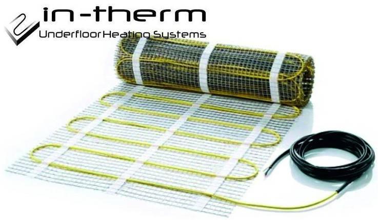Нагревательный мат In-Therm 5,3 кв.м 1080 Вт теплый пол под плитку, фото 2