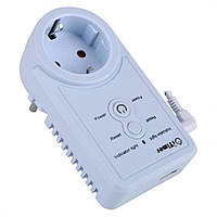 Дистанционная GSM розетка c таймером датчиком температуры и измерением потребляемой мощности