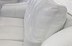 Диван Бостон 3-х местный кожа с перфорацией, раскладной, белый, фото 3