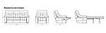 Комплект мебели Монако с механическим реклайнером (поворот/качание), (диван тройка+два кресла), фото 3