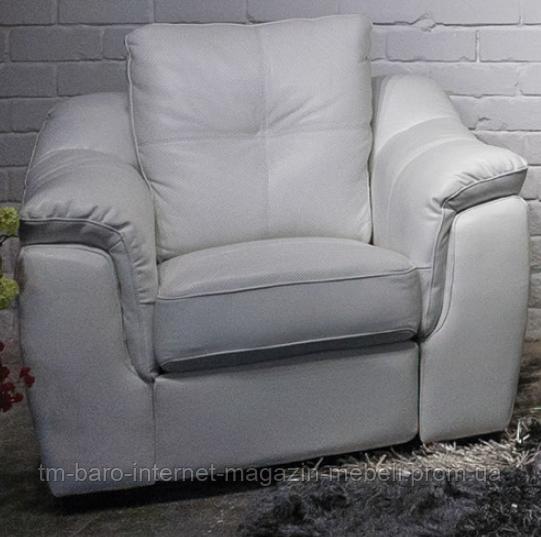 Кресло Бостон с механическим реклайнером и перфорацией, белый