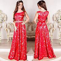 """Вечернее длинное платье красного цвета """"Монтерини"""", фото 1"""