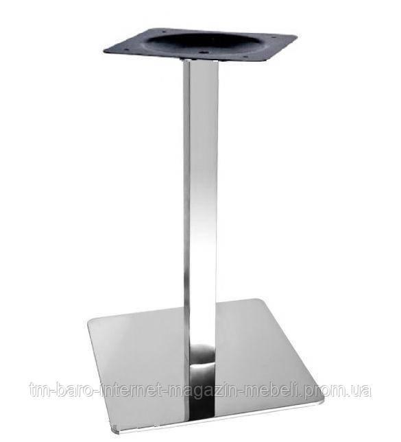 Опора для стола Кама нержавейка, h72 см, 50х50 см