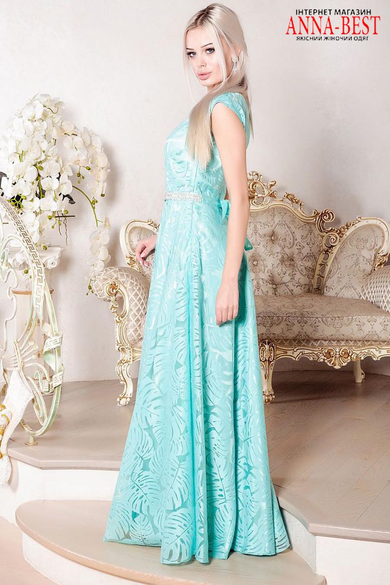 13946a14563 ... Вечернее длинное мятное платье