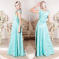 """Довге вечірнє м'ятна плаття, плаття на випускний, весілля """"Монтерини"""", фото 1"""