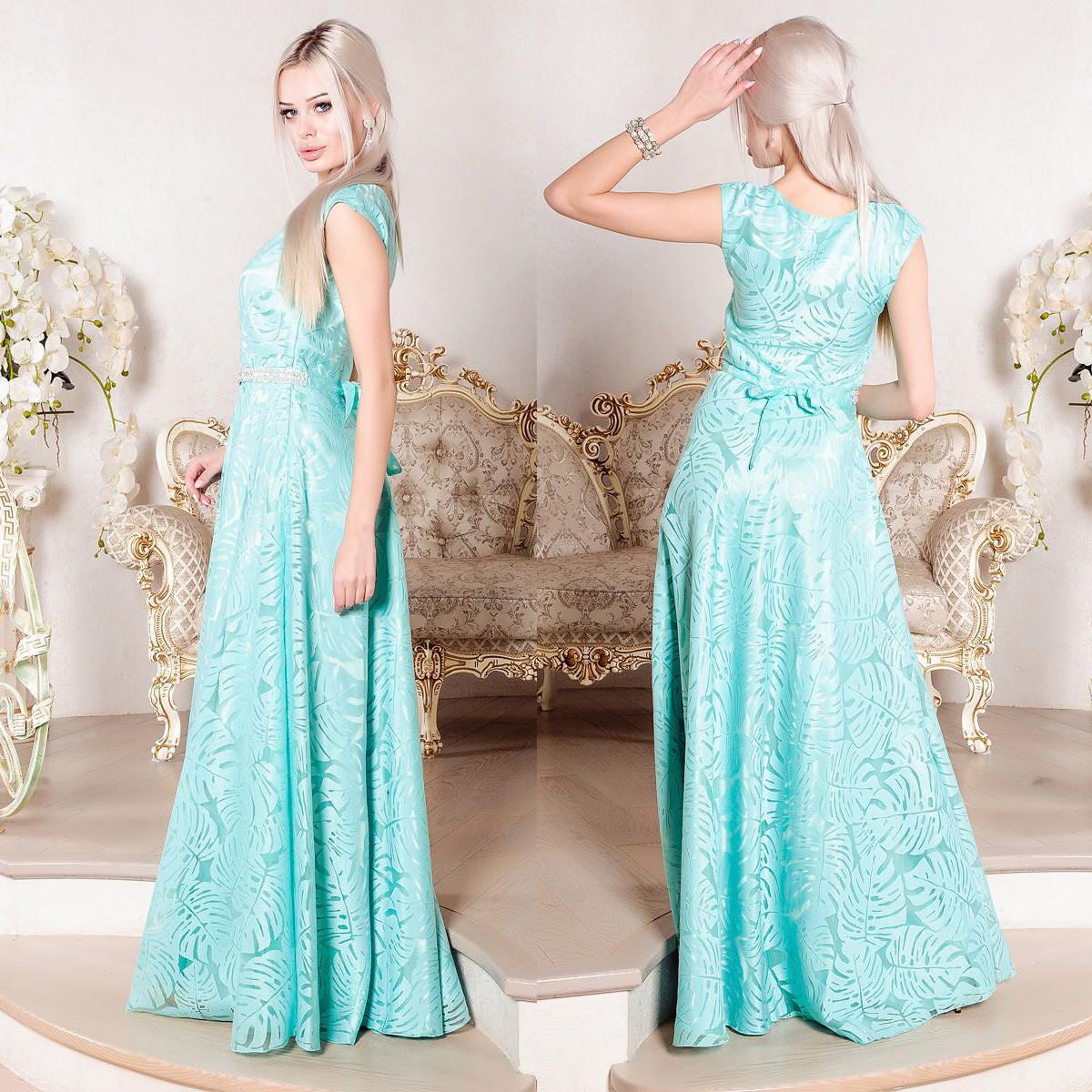 a2c991fa8f3 Вечернее длинное мятное платье