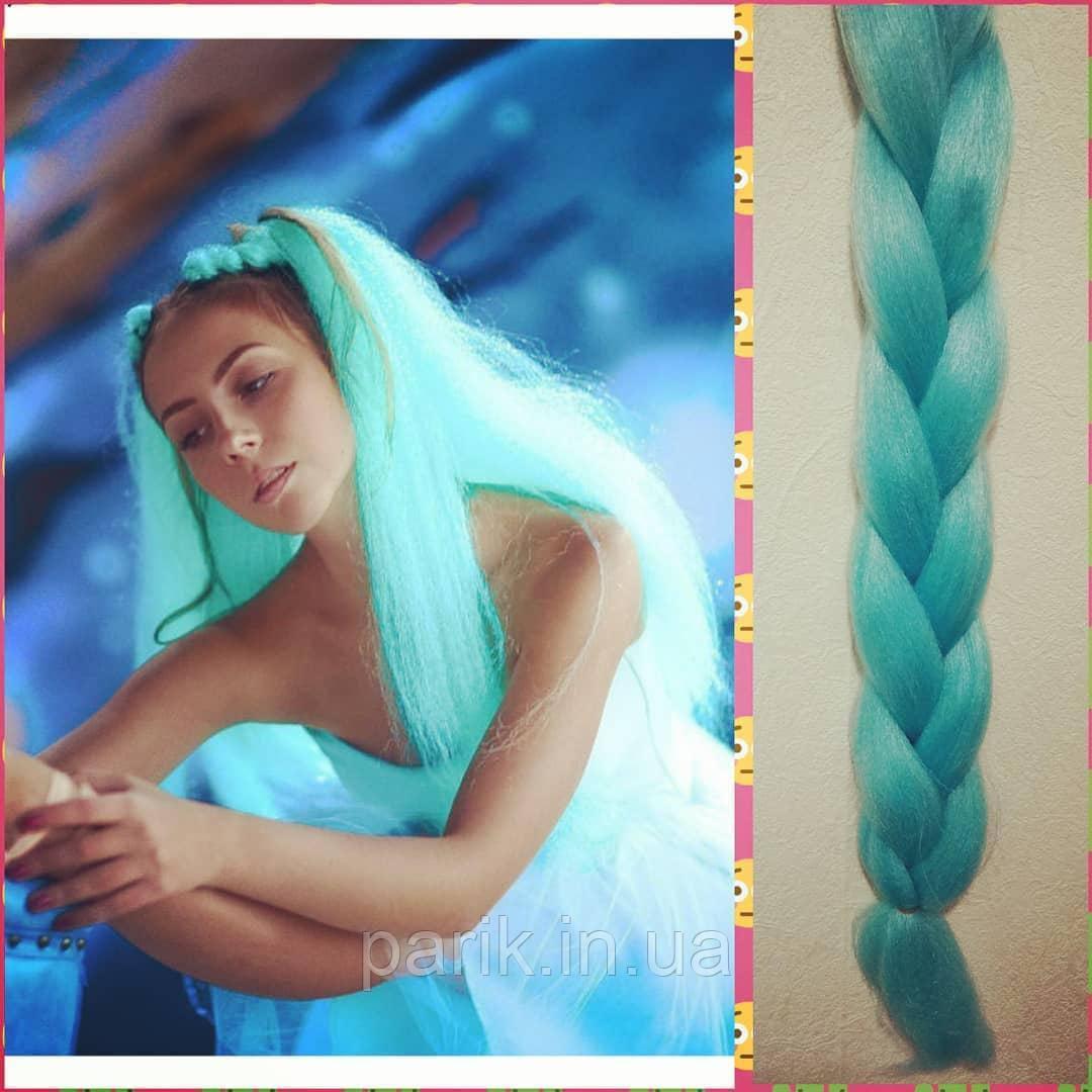 🍃 Мятный канекалон для плетния причёсок 🍃
