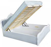 """Кровать """"Луиза Люкс с каркасом"""" с подъемным механизмом Белый глянец ТМ """"Миро марк"""""""
