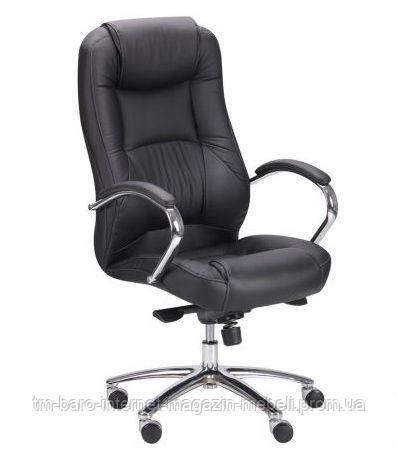 Кресло Мустанг МВ хром Неаполь N-20 перфорированный, Бесплатная доставка